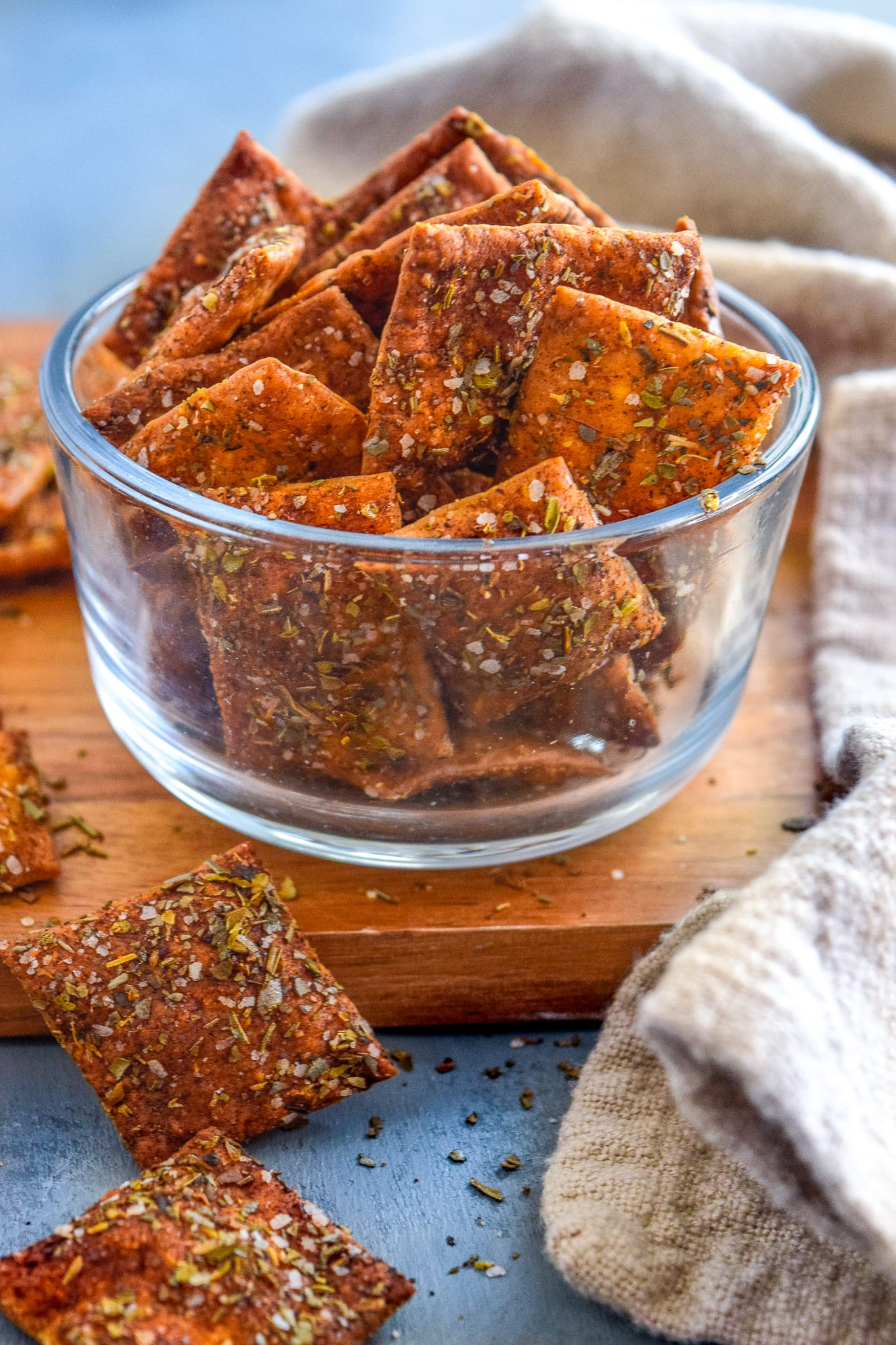 Turkish-Spiced Pie Crust Crackers (4 servings)