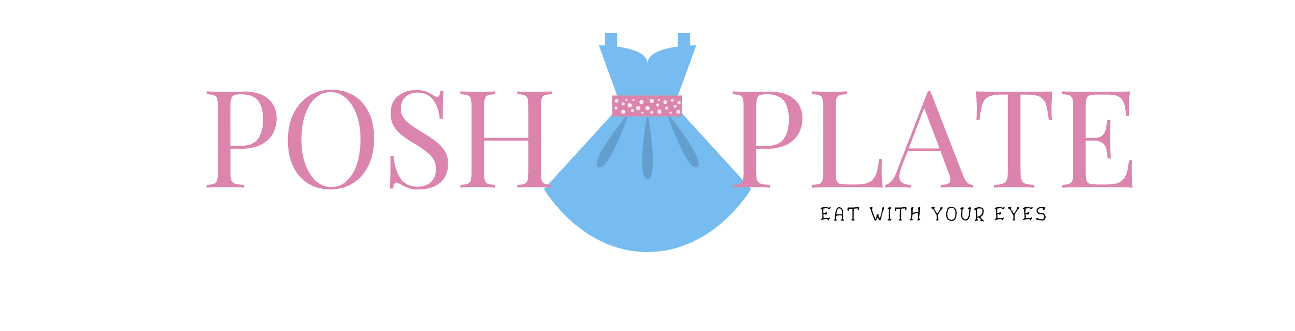POSH PLATE LOGO DRESS POLKA DOTS