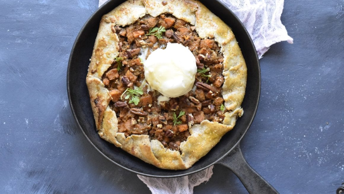 "Holiday Maple Sweet Potato ""Pie"" Galette"