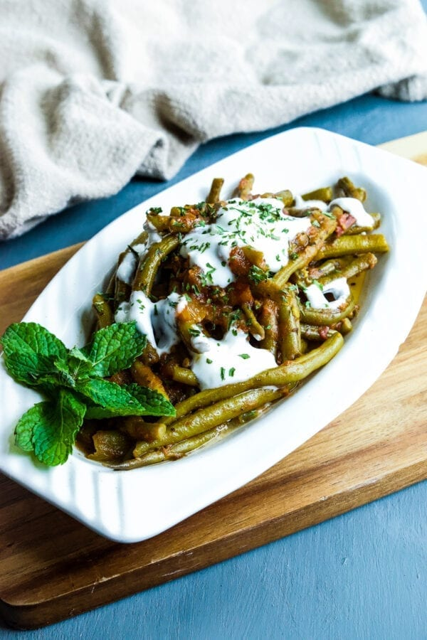how to make Turkish green beans