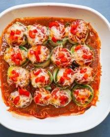 how to make zucchini Mediteranean roll ups