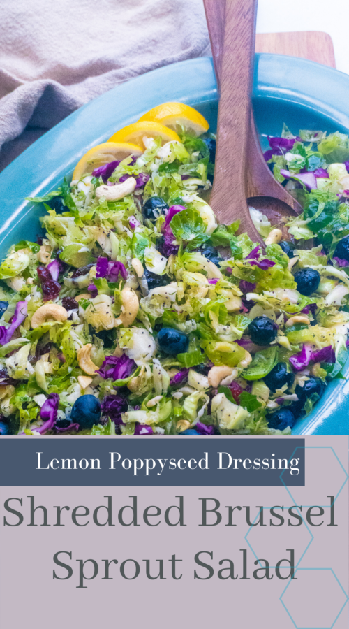 Brussel Sprout Salad with Lemon Poppyseed Dressing posh plate