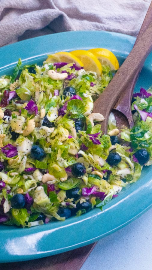 Brussel sprout salad with lemon poppy seed dressing posh plate