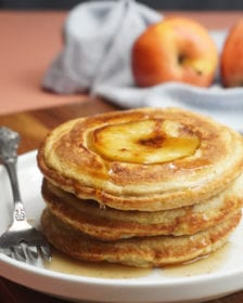 apple pancakes with maple syrup posh plate