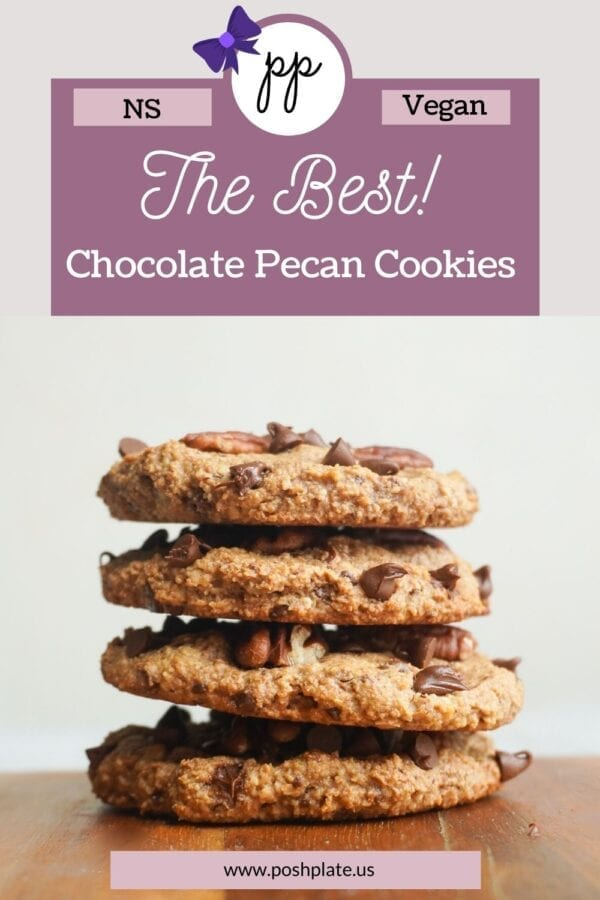 Pinterest pin how of vegan chocolate chip cookies