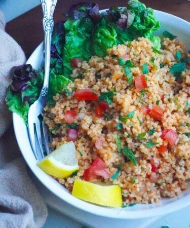 kisir Turkish bulgar salad