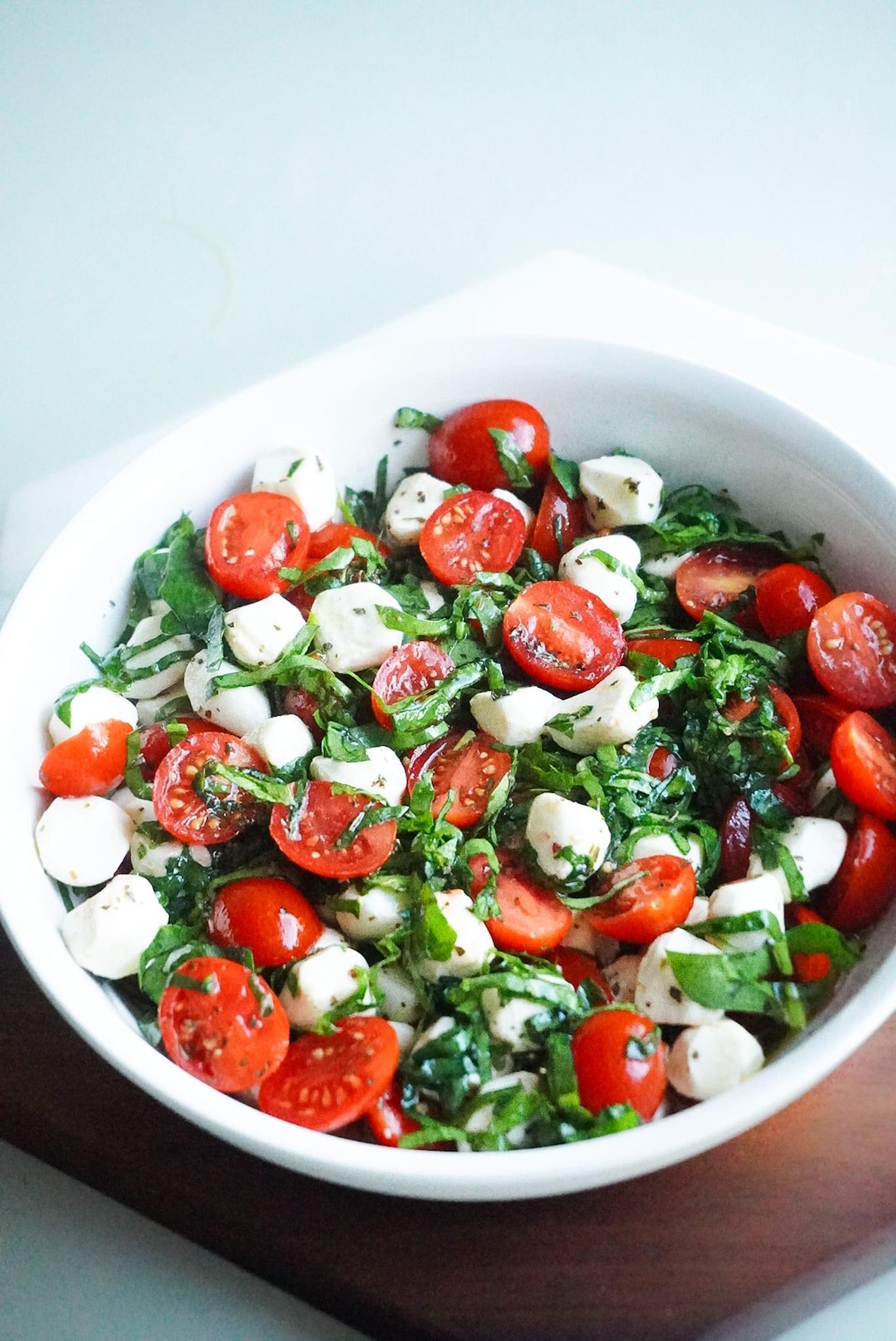 Caprese salad with Spinach recipe posh plate