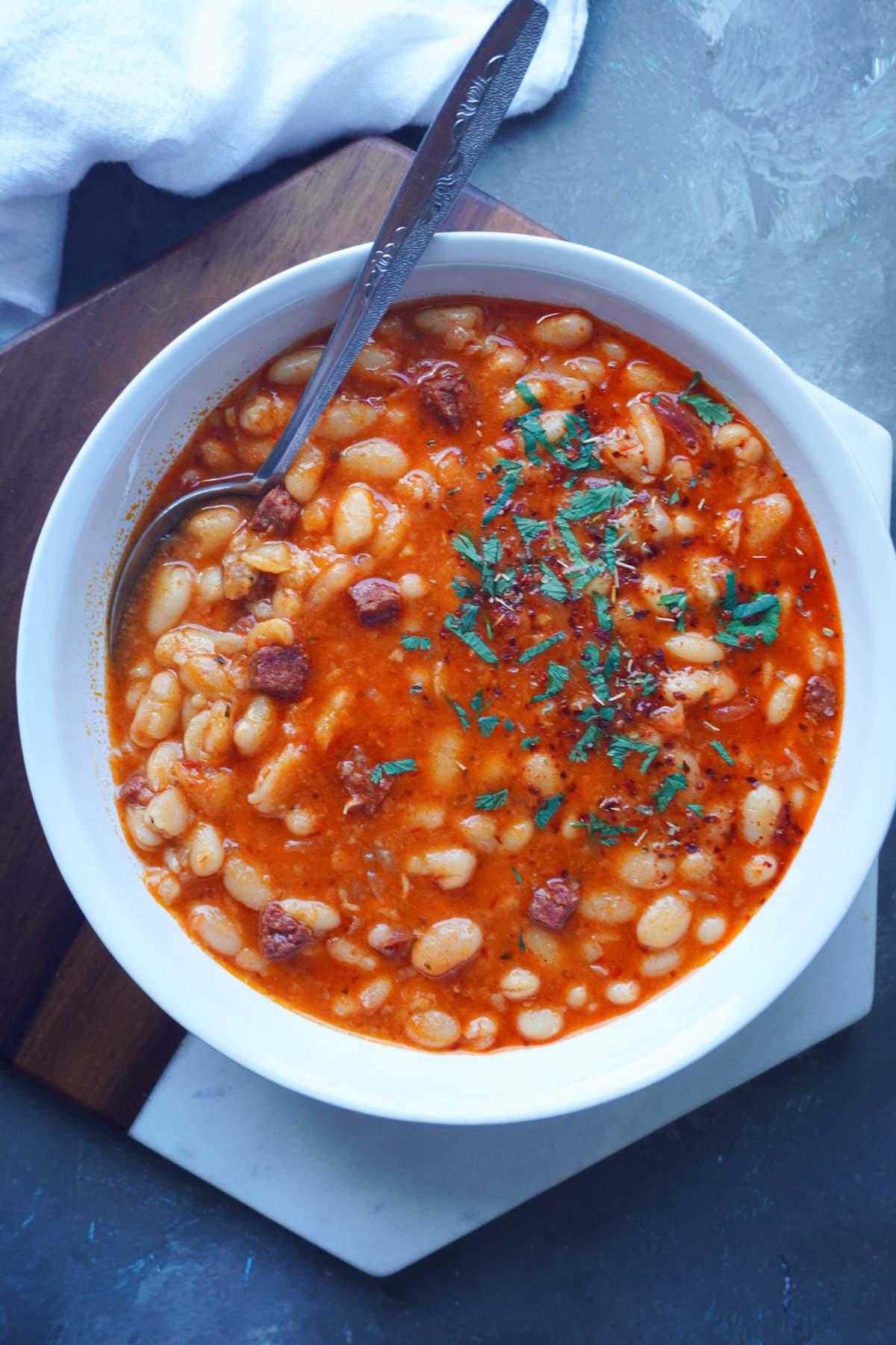 Instant Pot Turkish White Bean Stew | Kuru Fasulye
