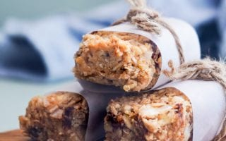 Soft Coconut Cashew Granola Bars with chocolate chips