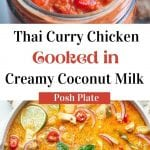 red thai curry chicken with coconut milk recipe