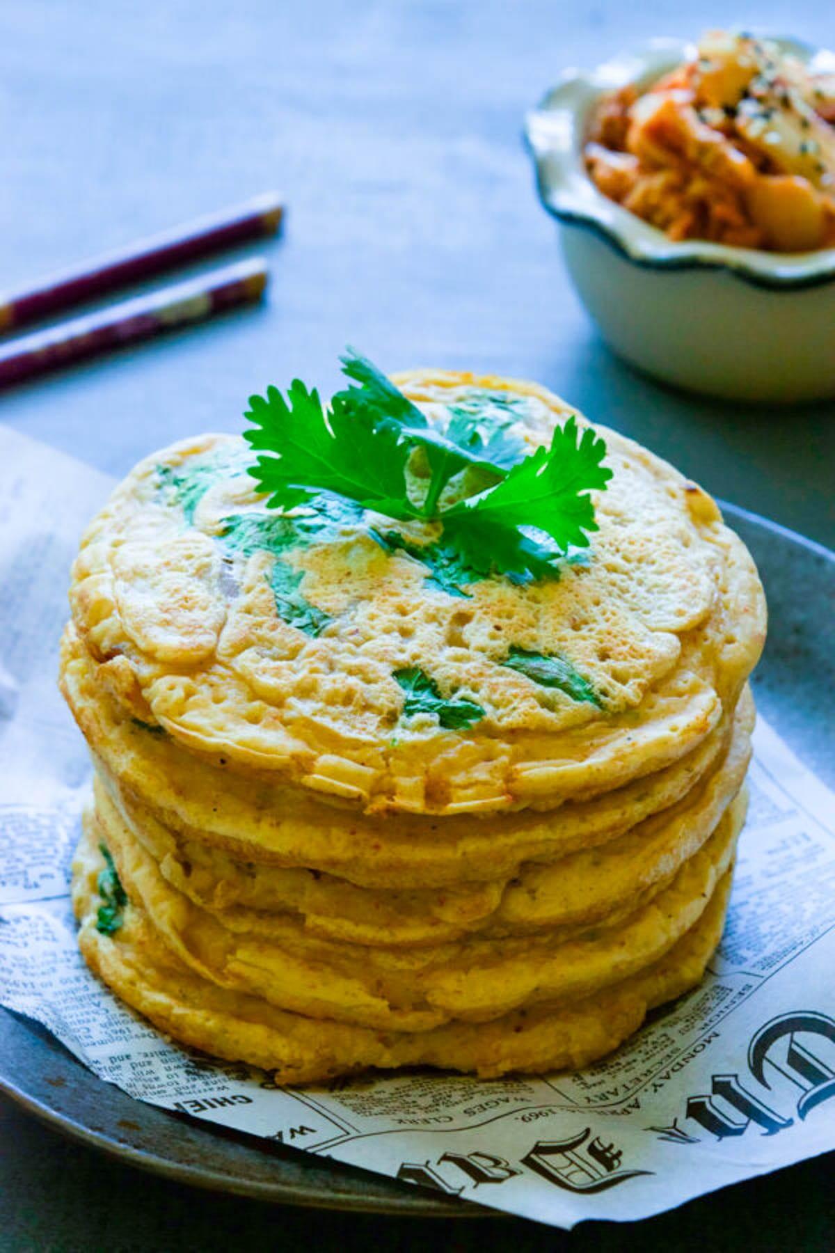 crispy kimchi pancakes