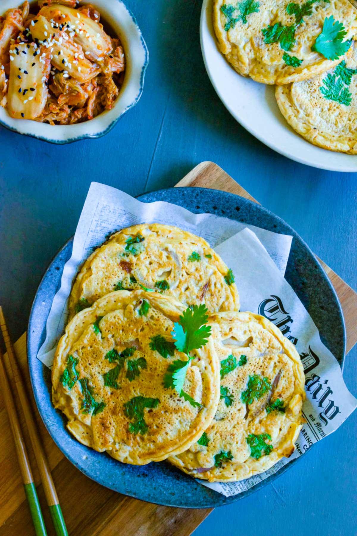 gluten free kimchi pancakes