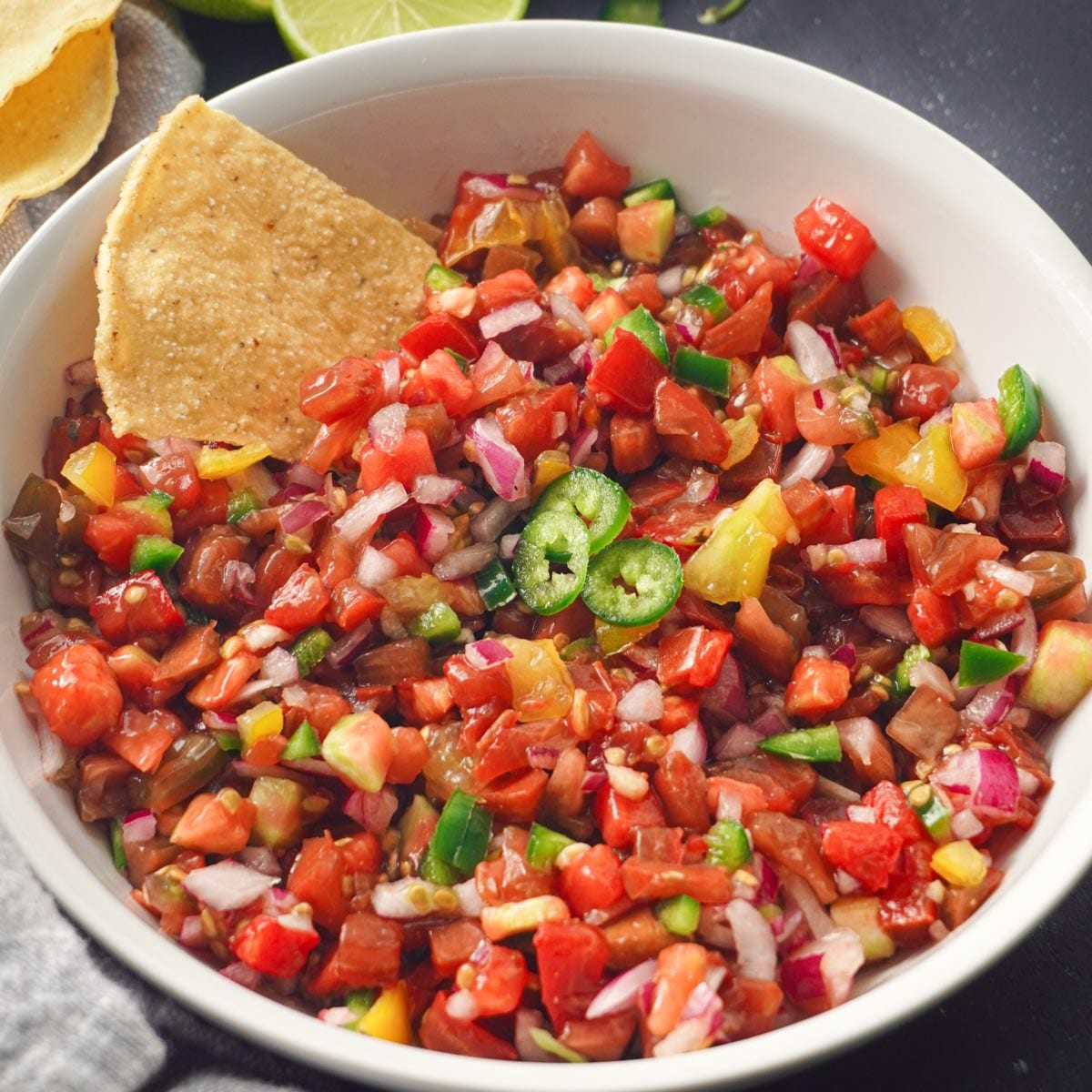 pico de gallo recipe (no cilantro!)