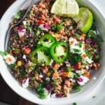 roasted corn salad buckwheat salad