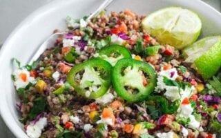 spicy buckwheat salad
