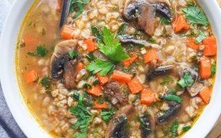 healthy wheat berry soup that's vegan