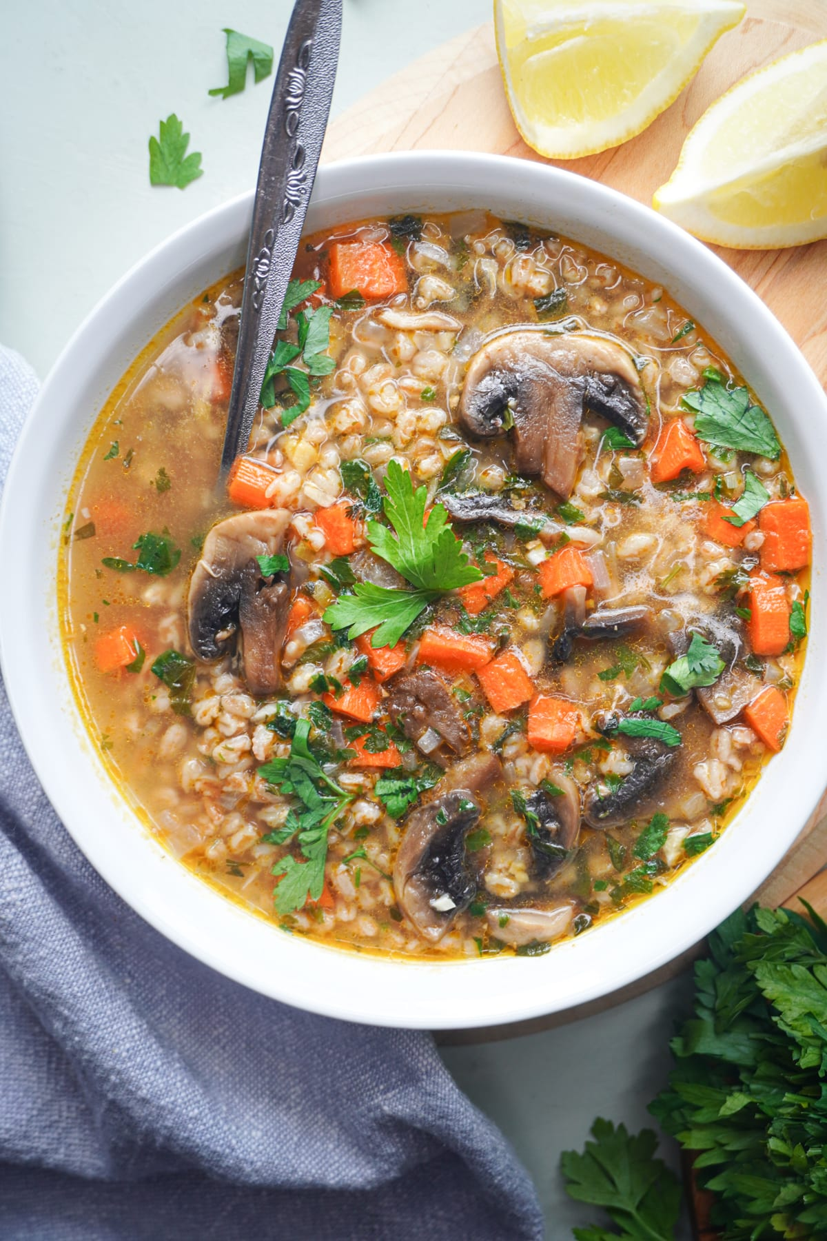 healthy wheat berry soup that's vegan