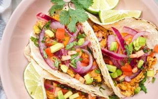 healthy mexican breakfast chorizo tacos with no pork