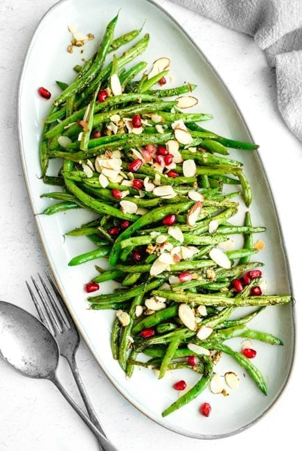 Sauteed Green Beans Recipe with Garlic and Mint