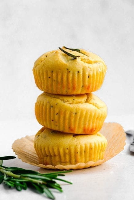 Rosemary Yogurt Muffins
