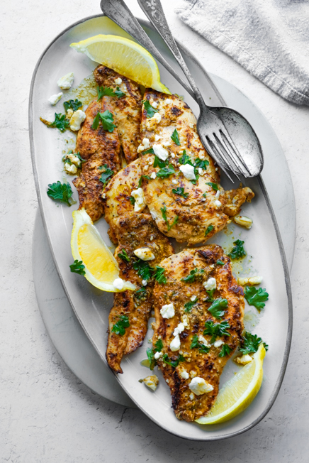 Greek Chicken with Lemon and Feta recipe